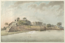 The fort at Dalmau on a bluff overlooking the Ganges